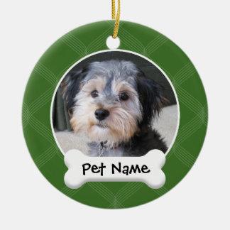 Marco personalizado de la foto del perro - SOLO-EC Ornamento De Navidad