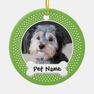 Marco personalizado de la foto del perro - SOLO-EC Ornamento Para Reyes Magos