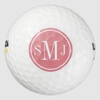 Marco personalizado del hielo del monograma y de pack de pelotas de golf