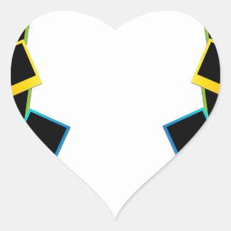 Marco polaroid colorido pegatina en forma de corazón