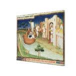Marco Polo con los elefantes y los camellos que ll Impresion De Lienzo