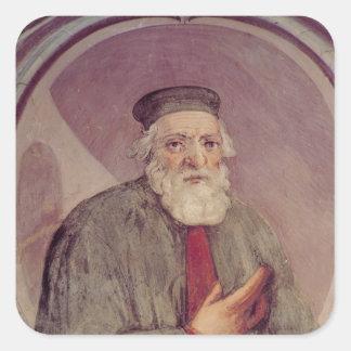 Marco Polo del 'Sala del Mappamondo' Calcomanía Cuadrada Personalizada