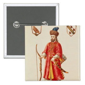 Marco Polo  dressed in Tartar costume 2 Inch Square Button
