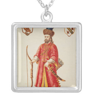 Marco Polo  dressed in Tartar costume Silver Plated Necklace