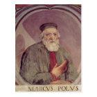 Marco Polo  from the 'Sala del Mappamondo' Postcard