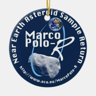 Marco Polo-R Double-Sided Ceramic Round Christmas Ornament