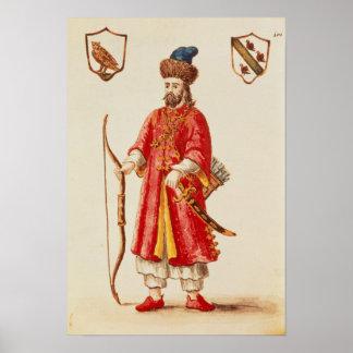 Marco Polo se vistió en traje del tártaro Póster