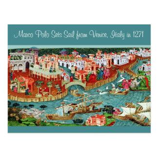 Marco Polo Sets Sail Postcard
