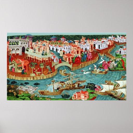 Marco Polo Sets Sail Poster Print