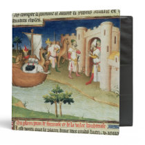 Marco Polo with elephants and camels arriving Binder