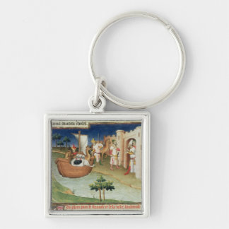 Marco Polo with elephants and camels arriving Keychain