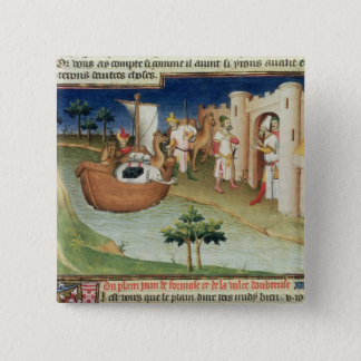 Marco Polo with elephants and camels arriving Pinback Button