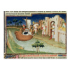 Marco Polo with elephants and camels arriving Postcard