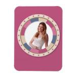 """marco precioso del círculo - """"color de rosa beige"""" imán de vinilo"""