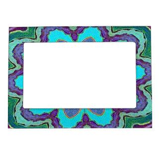 Marco púrpura de la foto del imán de la mandala de marcos magneticos