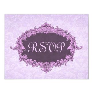 Marco púrpura del vintage - el casarse de RSVP Anuncio