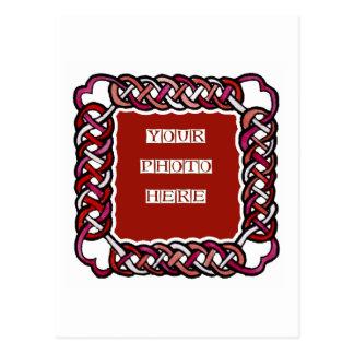 Marco rojo adaptable de Knotwork del Celtic Tarjetas Postales