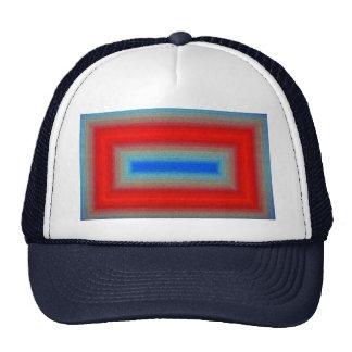 Marco Rojo-azul abstracto Gorros Bordados