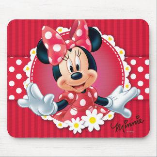 Marco rojo de la flor de Minnie el | Alfombrillas De Ratones