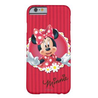Marco rojo de la flor de Minnie el   Funda Barely There iPhone 6