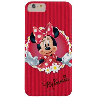 Marco rojo de la flor de Minnie el   Funda Barely There iPhone 6 Plus