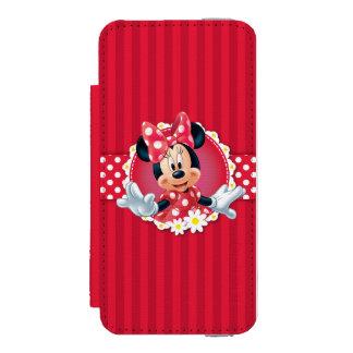 Marco rojo de la flor de Minnie el | Funda Billetera Para iPhone 5 Watson