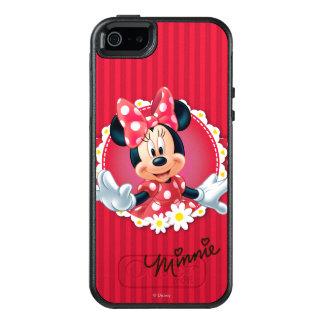 Marco rojo de la flor de Minnie el | Funda Otterbox Para iPhone 5/5s/SE