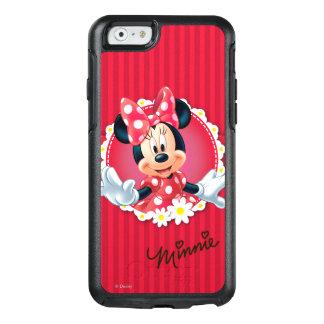 Marco rojo de la flor de Minnie el | Funda Otterbox Para iPhone 6/6s