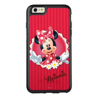 Marco rojo de la flor de Minnie el | Funda Otterbox Para iPhone 6/6s Plus