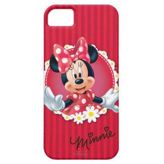 Marco rojo de la flor de Minnie el   Funda Para iPhone SE/5/5s