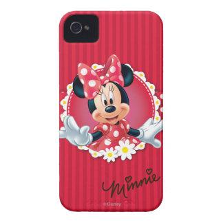 Marco rojo de la flor de Minnie el | iPhone 4 Fundas