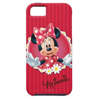 Marco rojo de la flor de Minnie el | iPhone 5 Funda