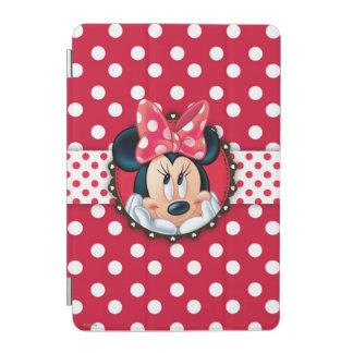 Marco rojo del lunar de Minnie el | Cubierta De iPad Mini