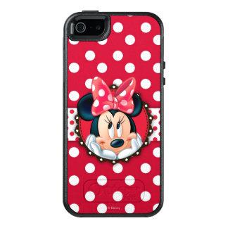 Marco rojo del lunar de Minnie el | Funda Otterbox Para iPhone 5/5s/SE