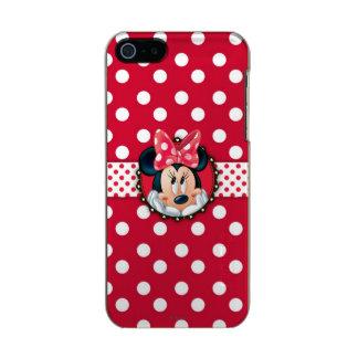 Marco rojo del lunar de Minnie el | Funda Para iPhone 5 Incipio Feather Shine