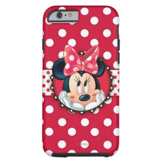 Marco rojo del lunar de Minnie el   Funda Resistente iPhone 6