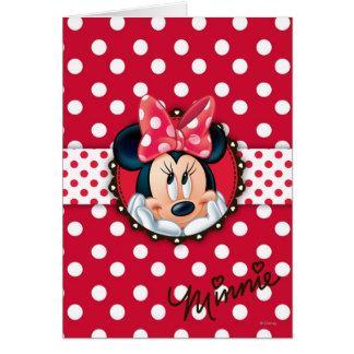 Marco rojo del lunar de Minnie el   Tarjeta De Felicitación