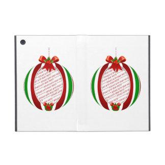 Marco rojo y verde de la foto del ornamento del na iPad mini protectores