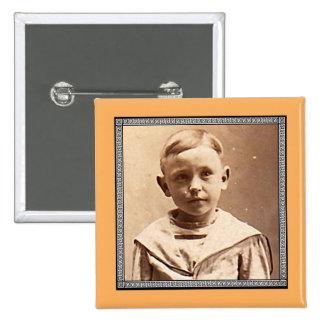 Marco romano de la foto de la frontera del Victori Pin Cuadrada 5 Cm
