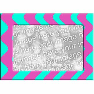 marco rosado de la foto de la turquesa fotoescultura vertical