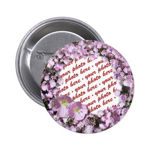 Marco rosado de la foto de las amapolas pin