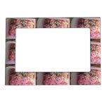 Marco rosado de la foto de los rosas marcos magneticos de fotos