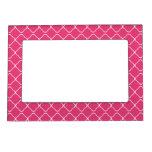 marco rosado del enrejado 5x7 marcos magnéticos para fotos