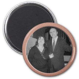 marco rosado del punto imán redondo 5 cm
