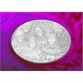 marco rosado púrpura de la foto fotoescultura vertical