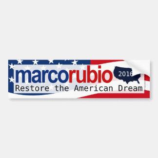 Marco Rubio 2016 American Dream Bumper Sticker Car Bumper Sticker