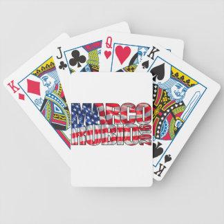 Marco Rubio 2016 (bandera) Baraja Cartas De Poker