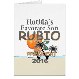 Marco RUBIO 2016 Greeting Card
