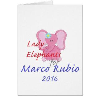 MARCO RUBIO 2016 CARD