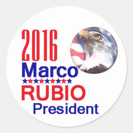Marco RUBIO 2016 Classic Round Sticker